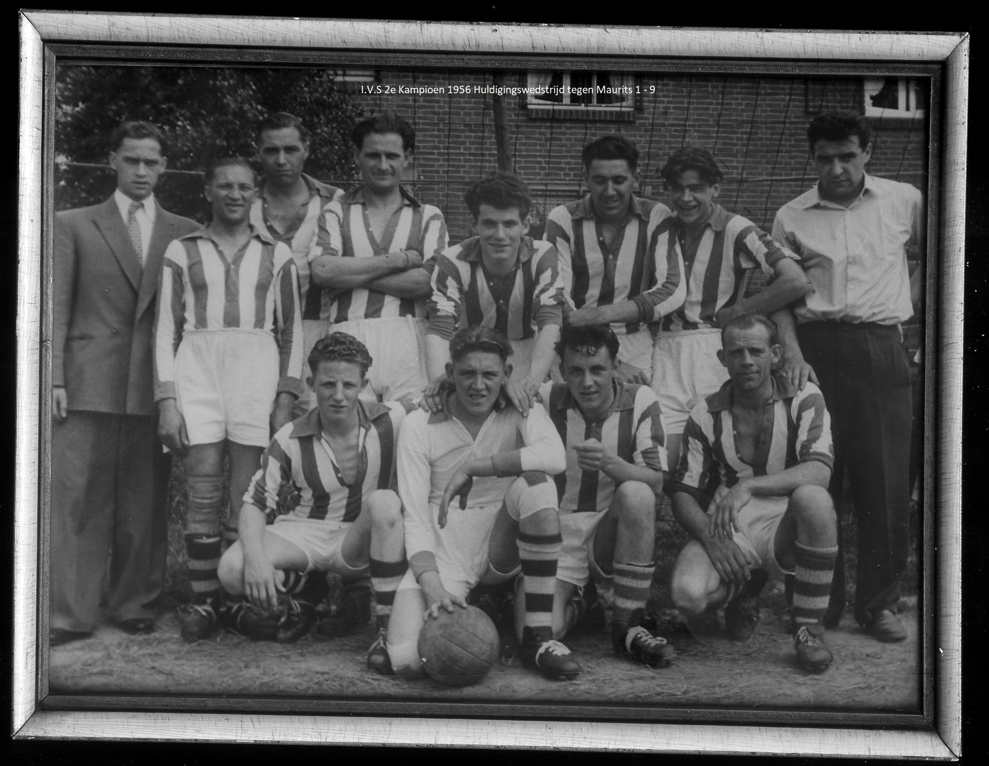 IVS 2e kampioen 1956huldigings wedstrijd iVS2 -Maurits 1-9